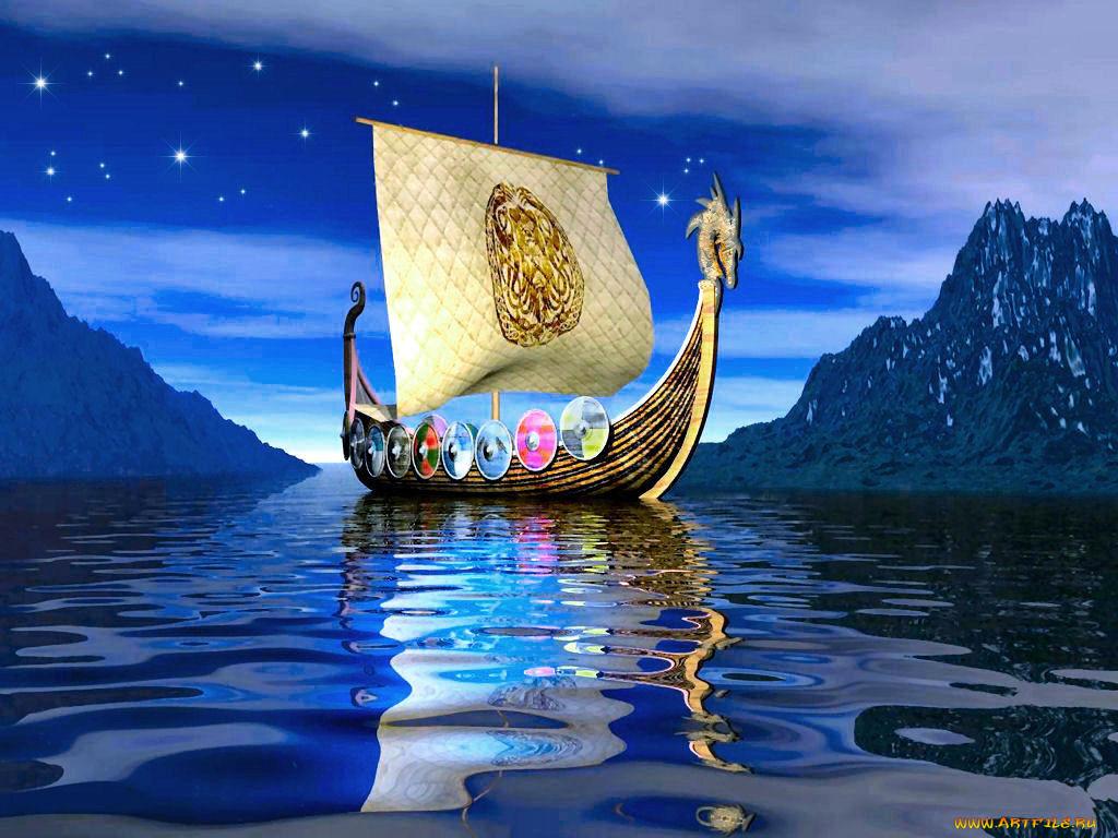 картинки сказочными лодками конструкции